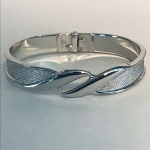Monet Silver Statement Bracelet